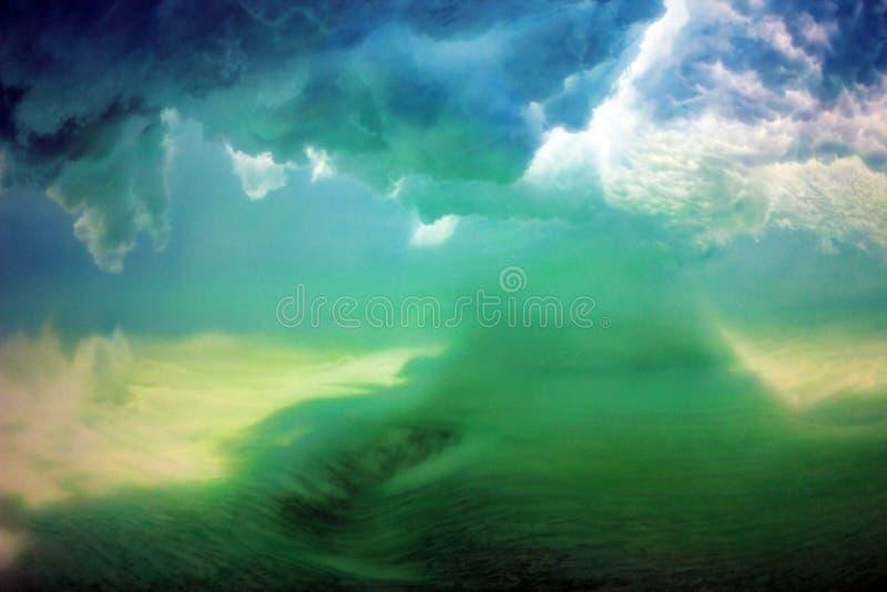Colors, Ominous Rain Clouds. Dark, ominous rain clouds promise rain.s royalty free stock image