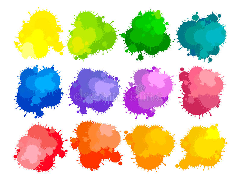 Colors of paints vector illustration
