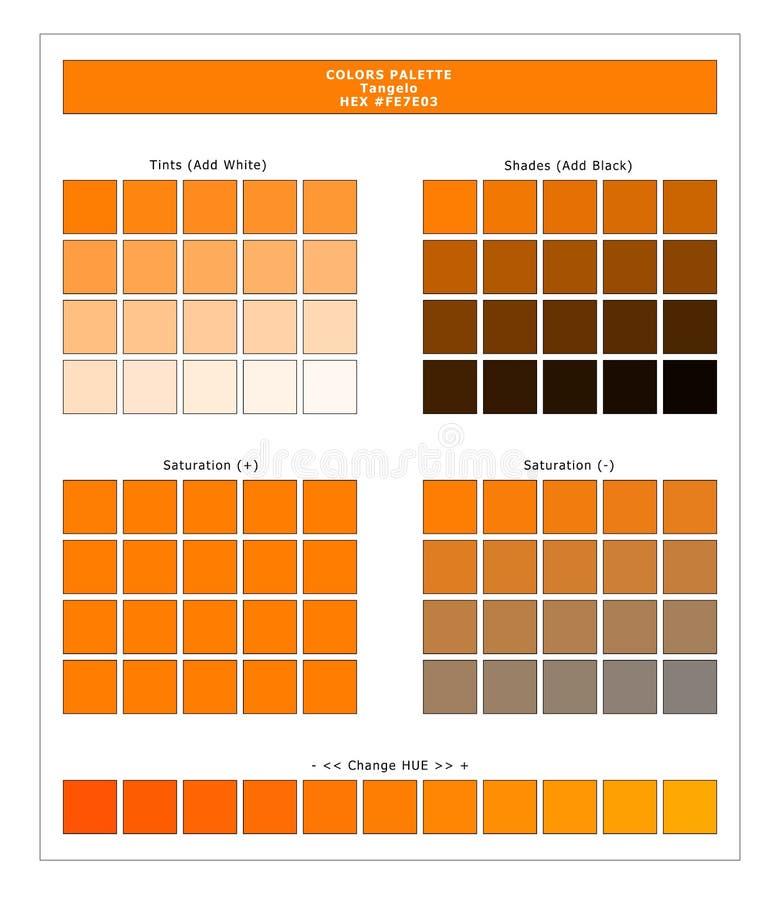 COLORS PALETTE / Lente en zomer 2020 Kleurenpalet voor textielafdrukken en digitaal gebruik Handleiding voor mode-trendkleuren vector illustratie