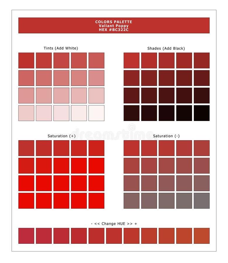 COLORS PALETTE / Lente en zomer 2020 Kleurenpalet voor textielafdrukken en digitaal gebruik Handleiding voor mode-trendkleuren stock illustratie