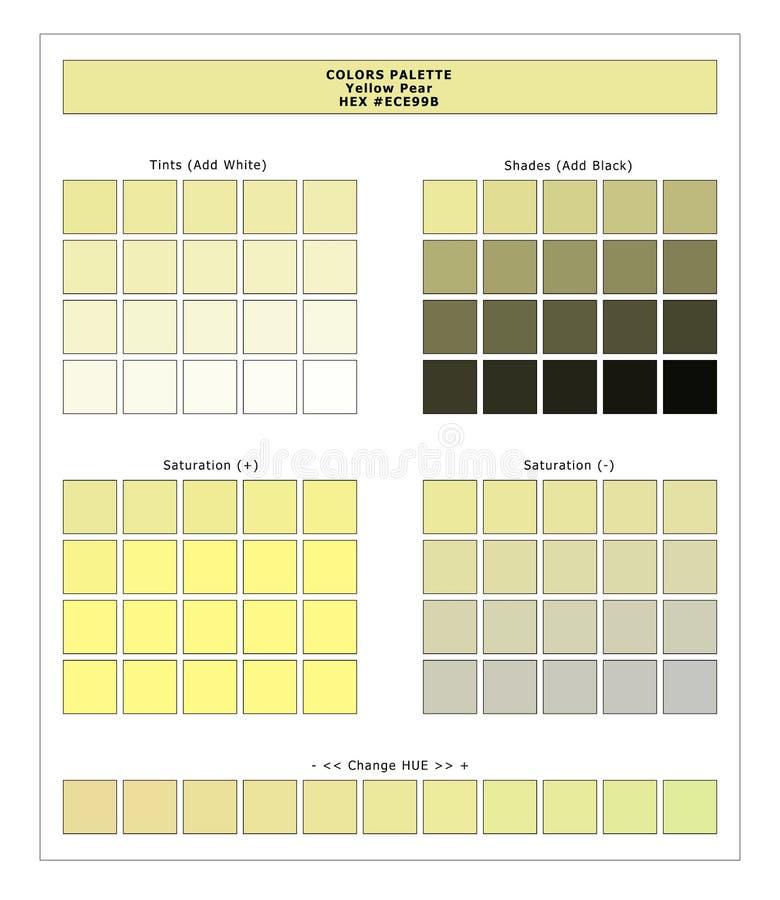COLORS PALETTE / Lente en zomer 2020 Kleurenpalet voor textielafdrukken en digitaal gebruik Handleiding voor mode-trendkleuren royalty-vrije illustratie