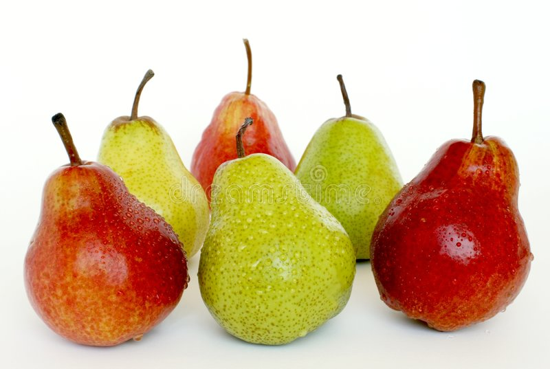 Colors pears stock images
