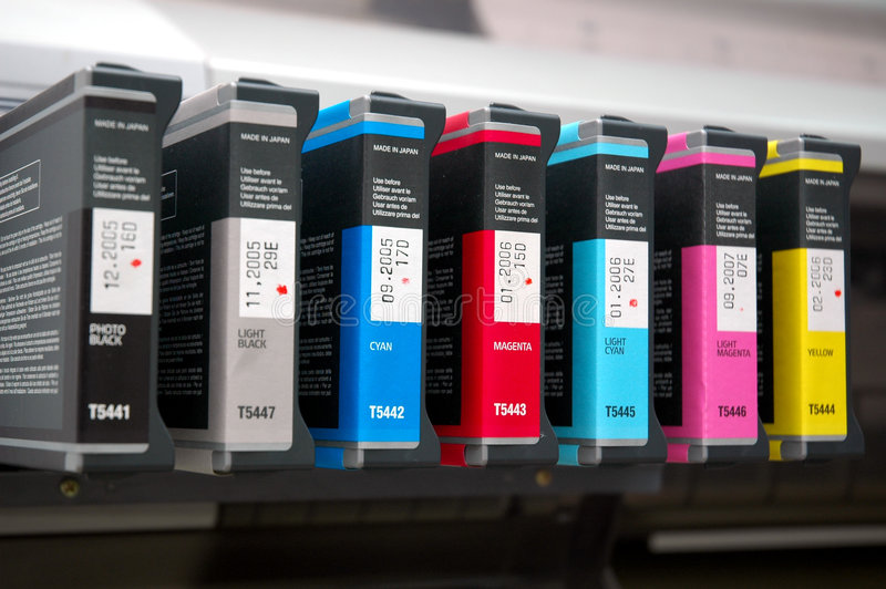 Colors for printing. Set of colors for large print out stock image