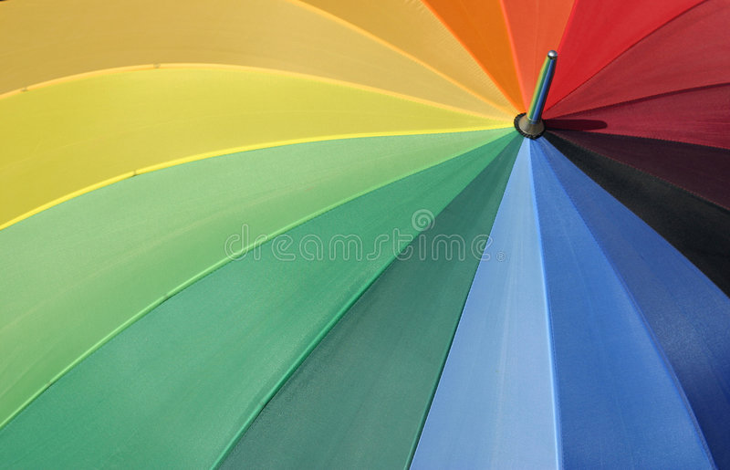 Colors of the rainbow stock photo