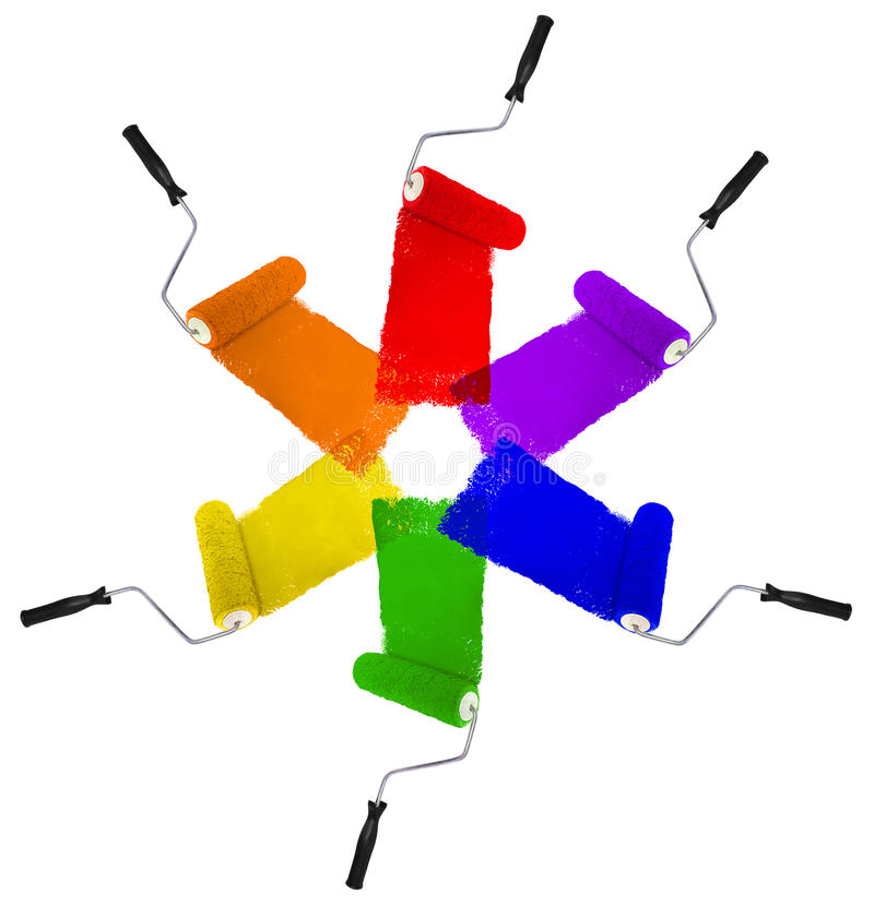 colors rullar olika arkivbild