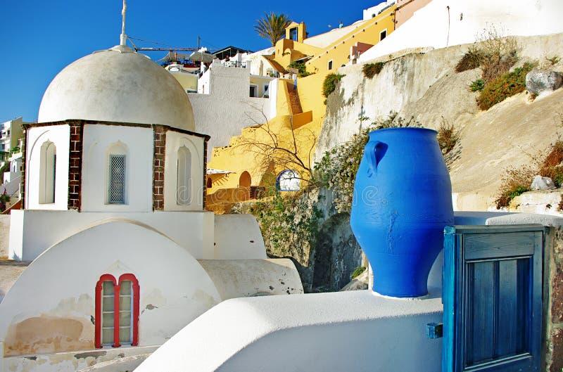 Colors of Santorini royalty free stock photo