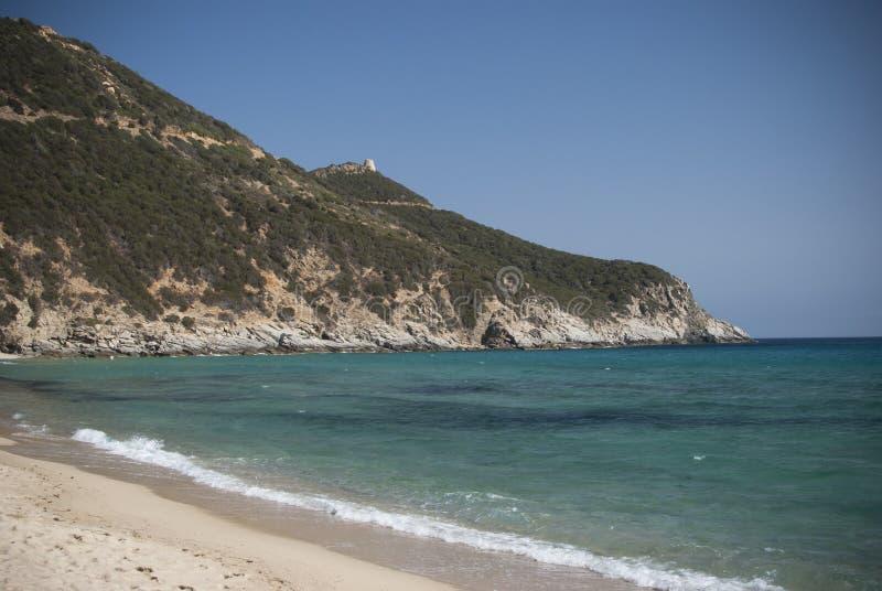 Colors of Sardinia. Solanas Beach stock images