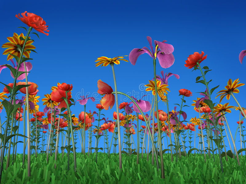 The colors of spring stock illustration