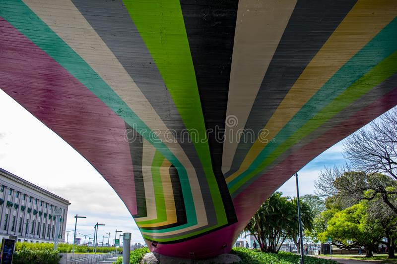 Colors under the law bridge royalty free stock photo
