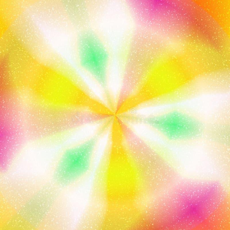 Colorulachtergrond met concentrisch kleurrijk cirkels en shinig s royalty-vrije illustratie