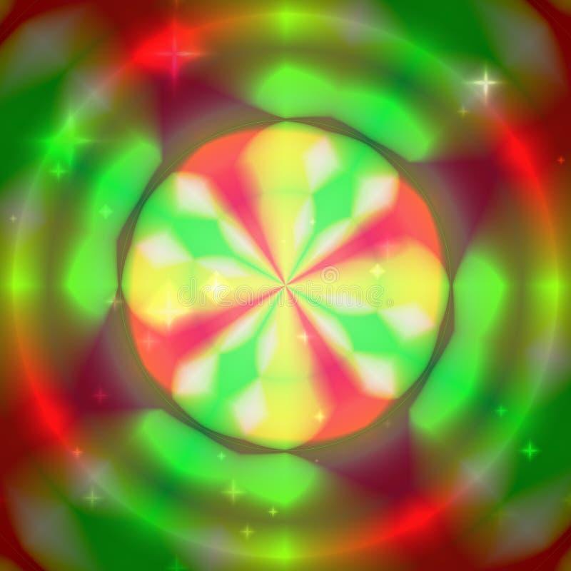 Colorulachtergrond met concentrische kleurrijke cirkels royalty-vrije illustratie