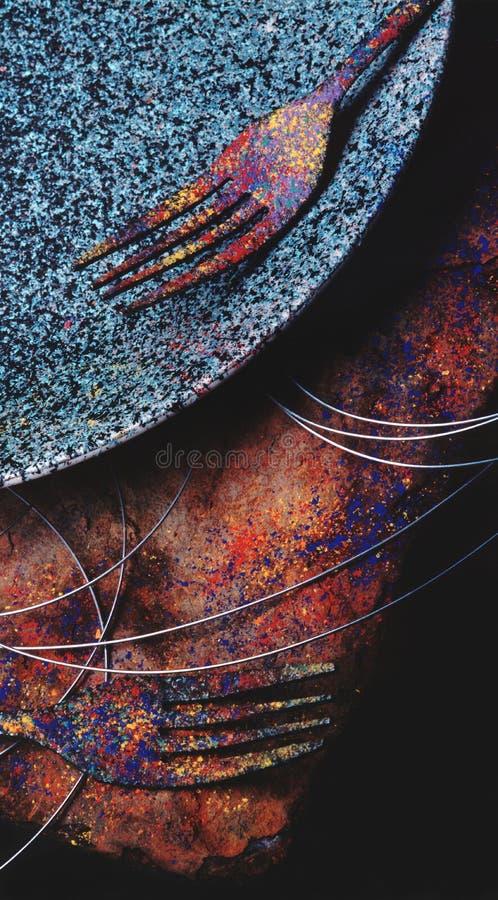 Colorurful Gabeln lizenzfreie stockbilder