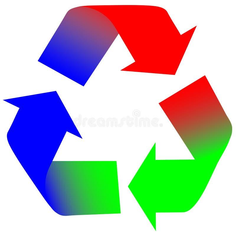 colorwheel rgb strzała ilustracja wektor
