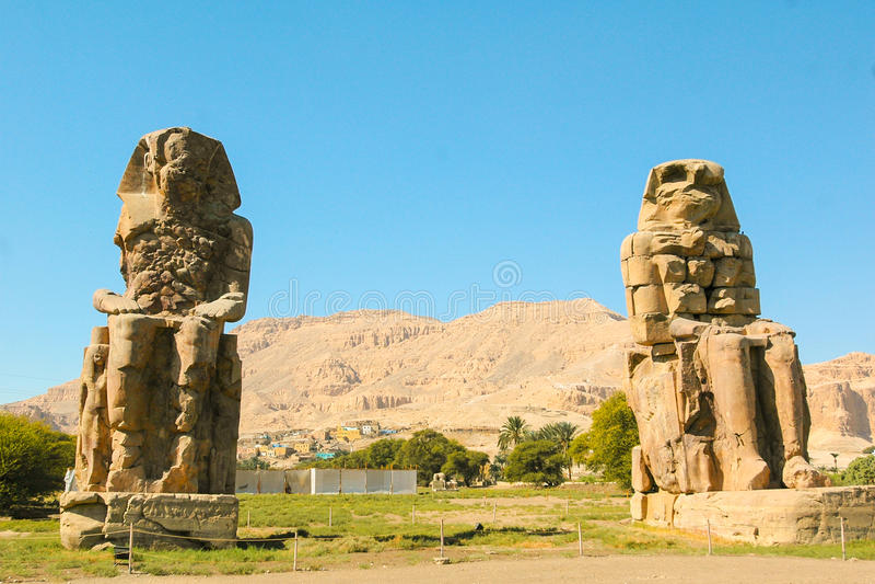 Colos Memnon, Αίγυπτος στοκ φωτογραφία με δικαίωμα ελεύθερης χρήσης