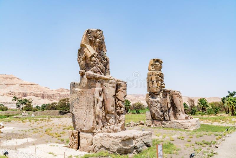 Colose de Memnon Amenhotep III em Luxor, Egito fotos de stock