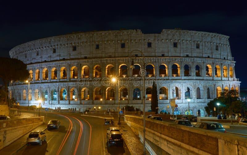 Coloseum noc Rzymu zdjęcia royalty free