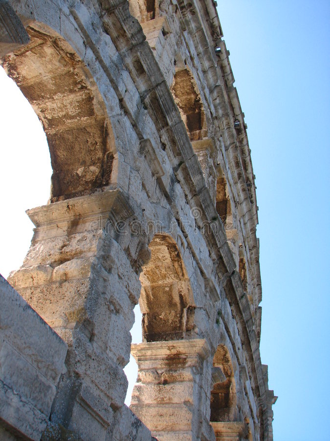 Coloseun en Pola fotos de archivo