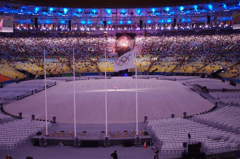 Colosing ceremonier Rio2016 på Maracana stadion royaltyfri fotografi