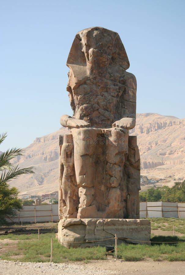 Coloso de Memnon imagen de archivo