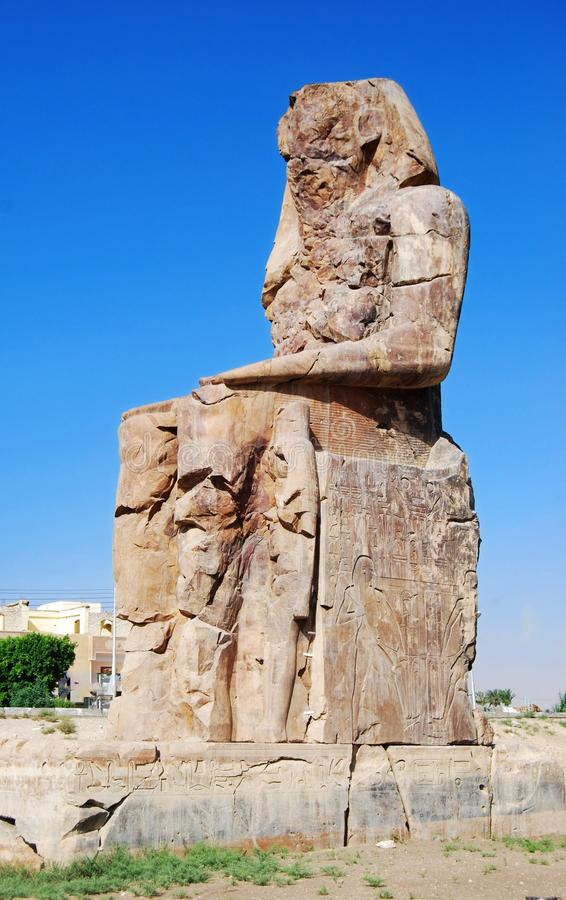 Coloso derecho de Memnon, Luxor, Egipto imagen de archivo