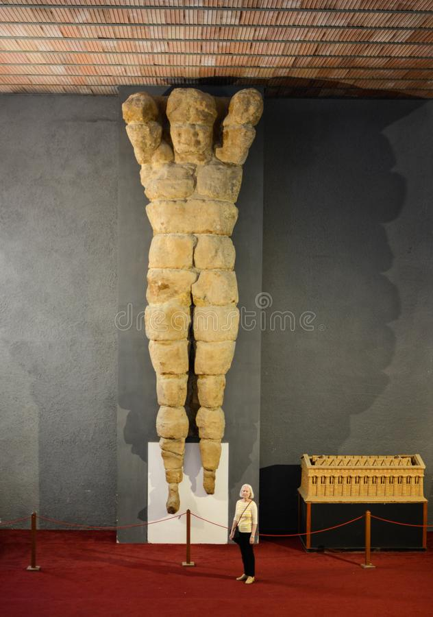 Free Colossal Telamon From Temple Of Jupiter Sicily Stock Photo - 117010230