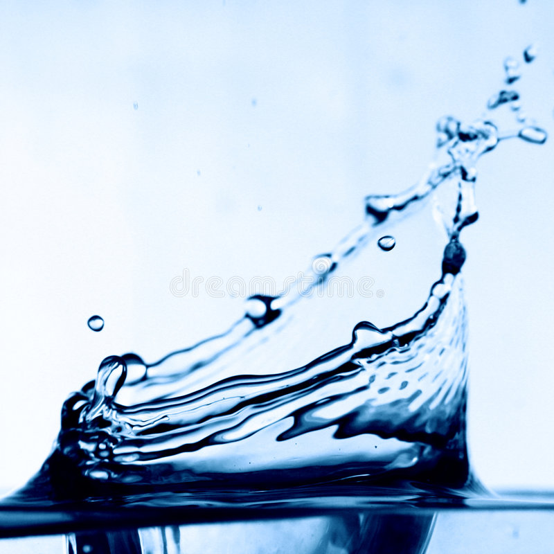 Colossal water splash. Macro close up royalty free stock images