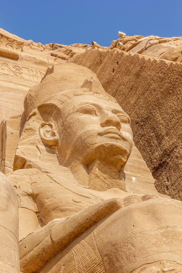 Colosse Abu Simbel de détail photo stock