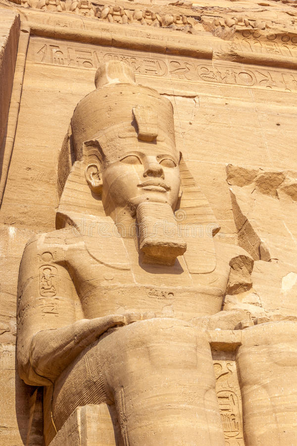 Colosse d'Abu Simbel image stock