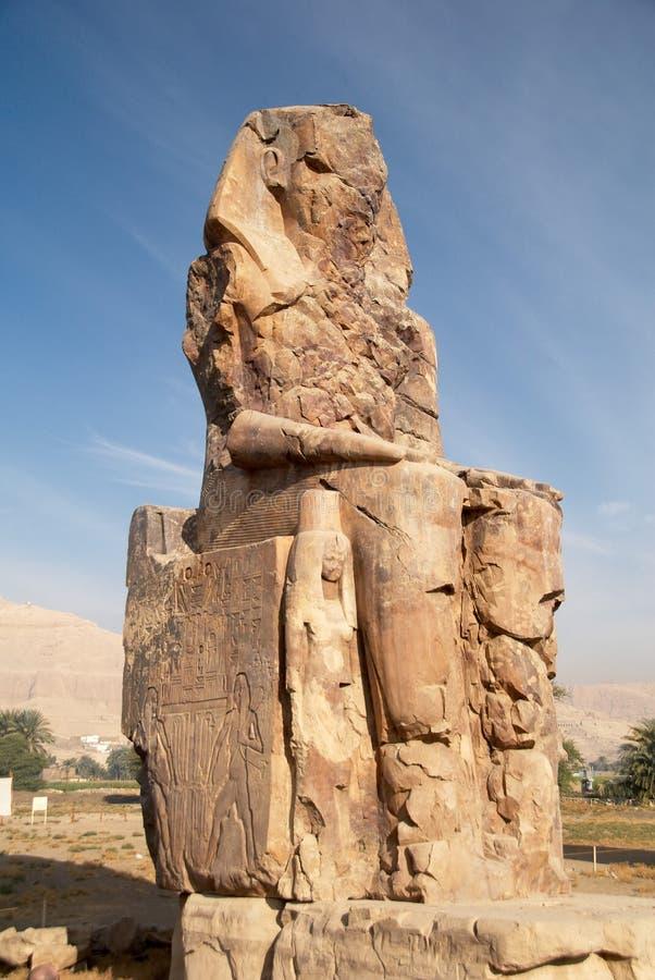 Colosse de Memnon image libre de droits