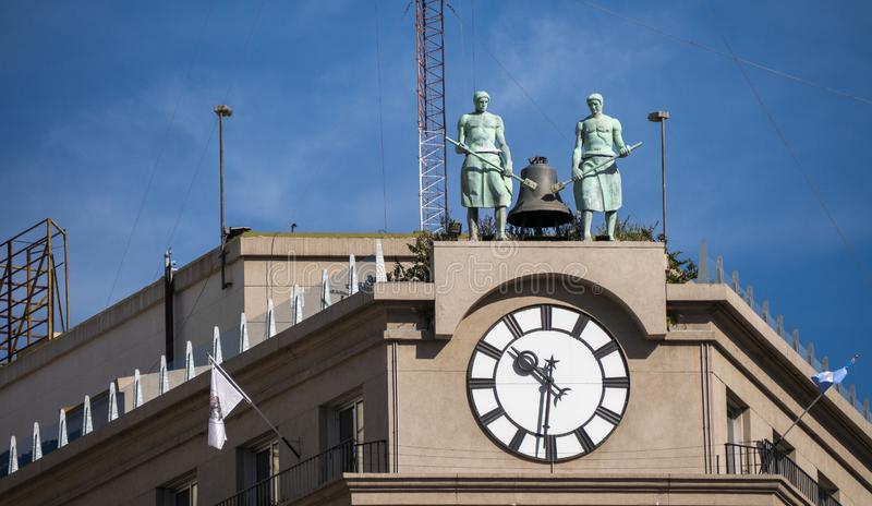 Colosse de Siemmens à Plaza de Mayo historique à Buenos Aires, Argentine image libre de droits