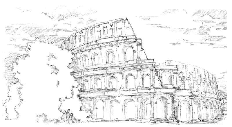 Colosseo, Italia royalty illustrazione gratis