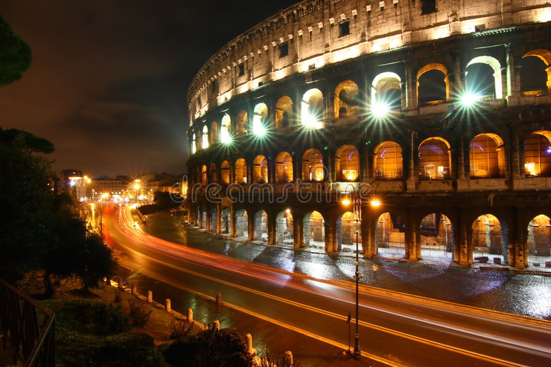 Download Colosseo at night, Rome stock photo. Image of gladiator - 8451812