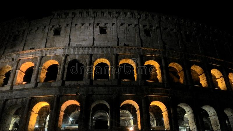 Colosseo. Roma city art monument architecture okd old night royalty free stock photos