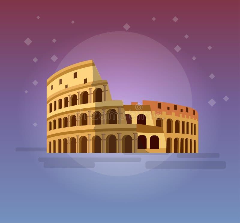 Colosseo a Roma, Italia Colosseum illustrazione di stock