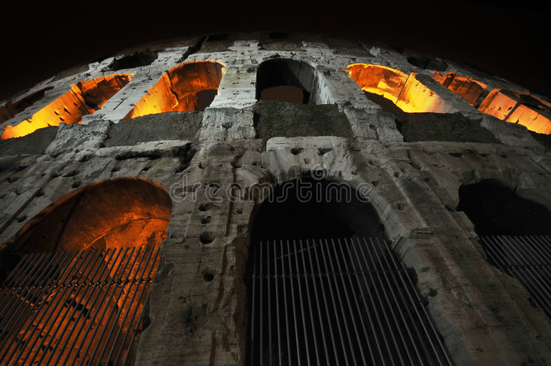 Colosseo, Roma, Italy. Night shot of Colosseo, Roma, Italy stock photos