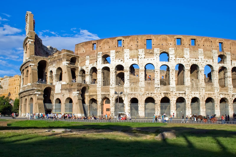 Colosseo in Rome. Ancient ruins of great stadium Colosseo, Rome, Italy stock photos