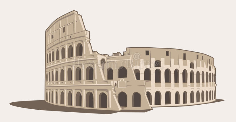 Colosseo. Vector Illustration of the Colosseo in Rome vector illustration