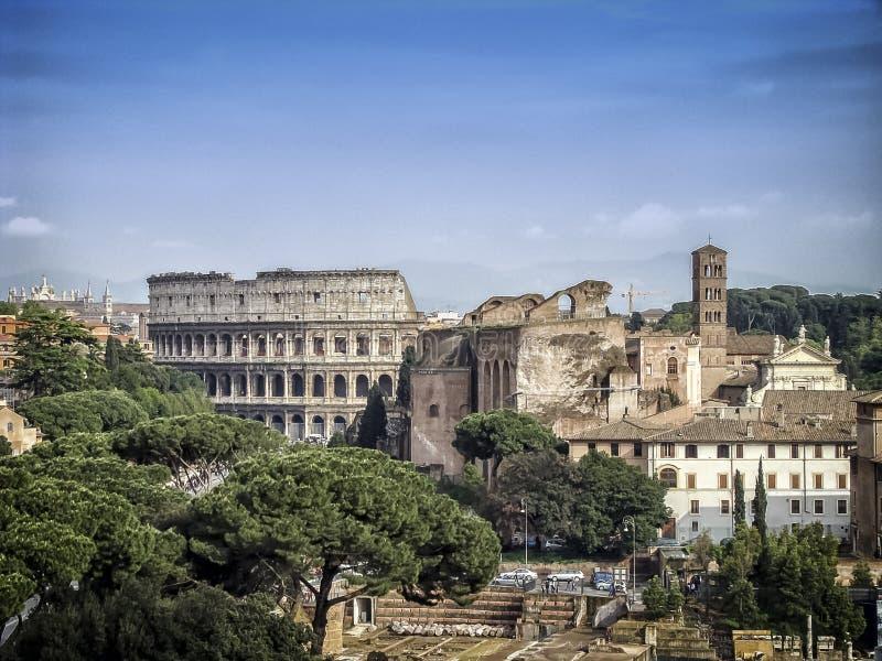 Colosseum在罗马 库存图片