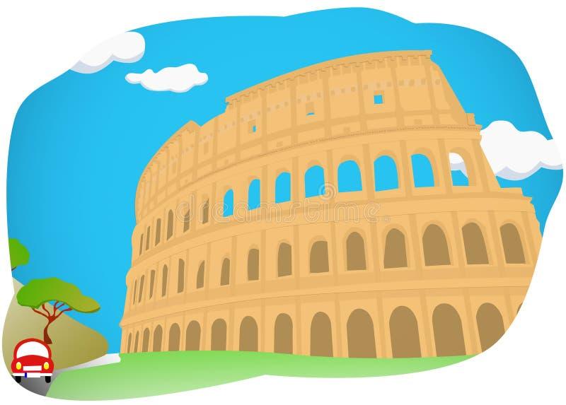 Colosseum à Rome, Italie illustration libre de droits