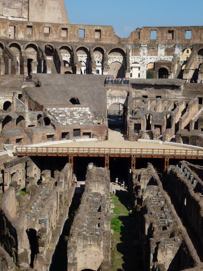 colosseum внутрь стоковое изображение