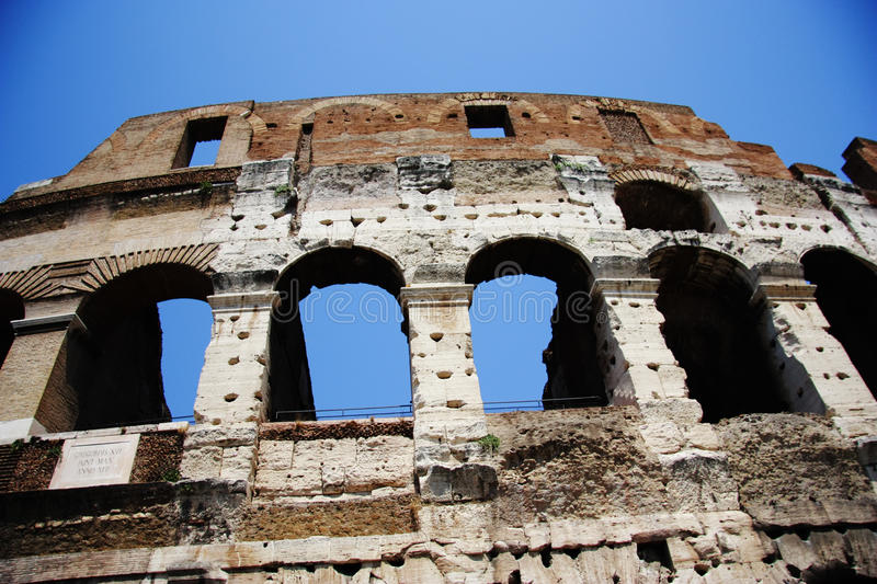 Colosseum. A colossal structure that almost everybody are familiar with in one way or the other. Taken from an angle as to give a sense of its size even from a stock photo