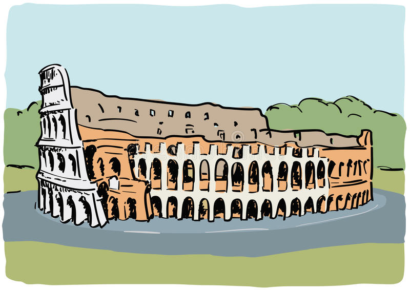 colosseum stock illustrationer