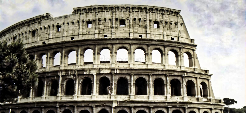 Colosseum, Amfitheater, Rome Italië, circa 1986 stock fotografie