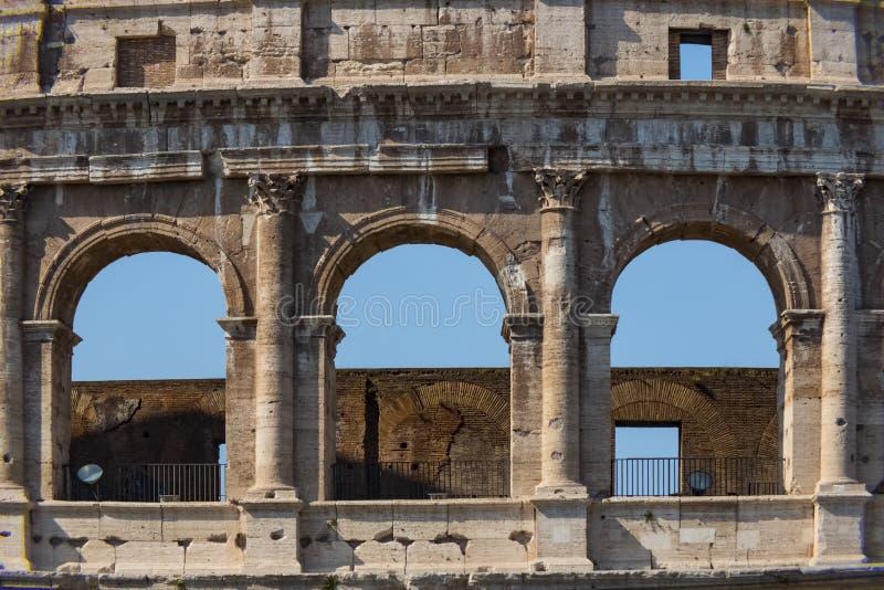 Colosseum - as atrações turísticas principais de Roma, Itália Ruínas antigas de Roma de Roman Civilization foto de stock royalty free