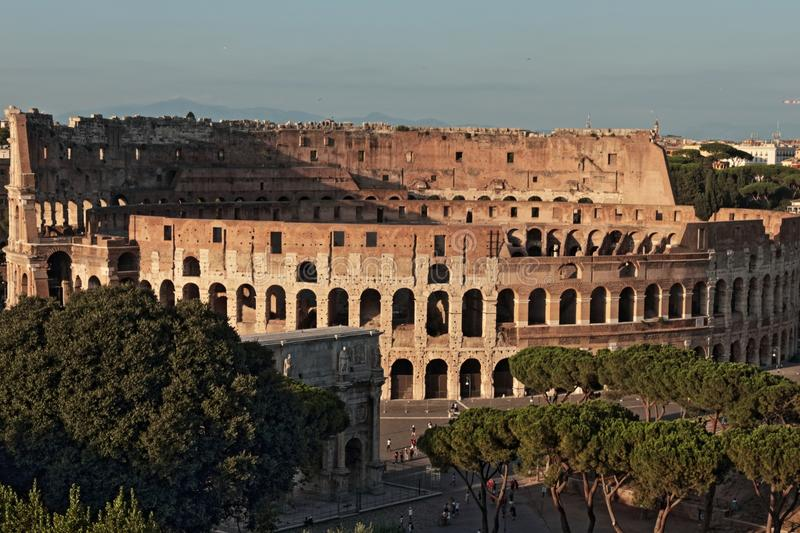 The Colosseum from Aventine hill stock image