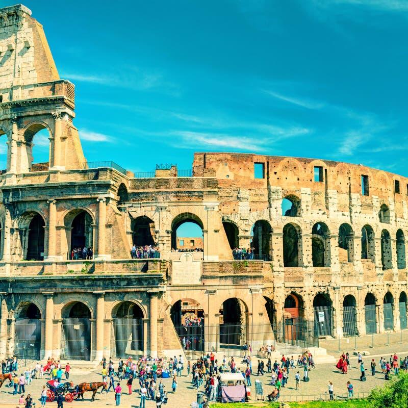 Colosseum (coliseu) em Roma, Itália Foto do vintage fotografia de stock