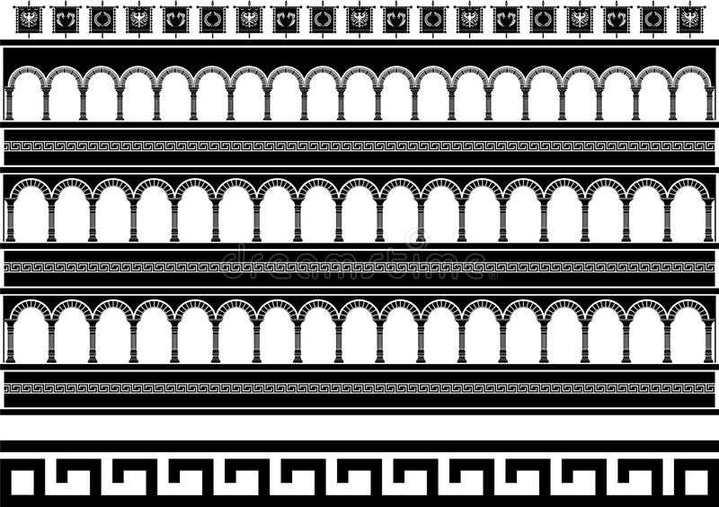 Colosseum da fantasia ilustração stock