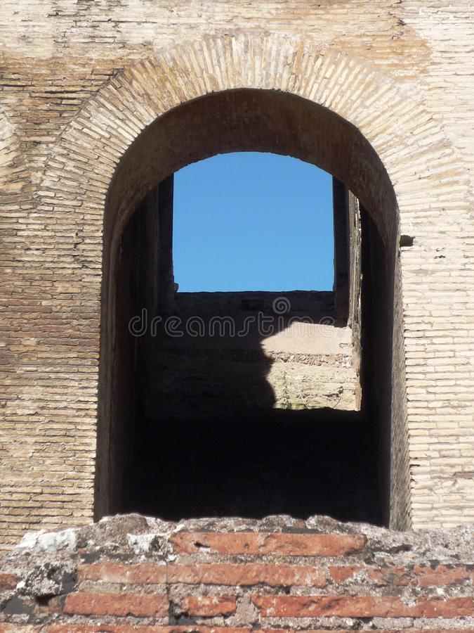 Colosseum-Detail des Bogens stockfoto