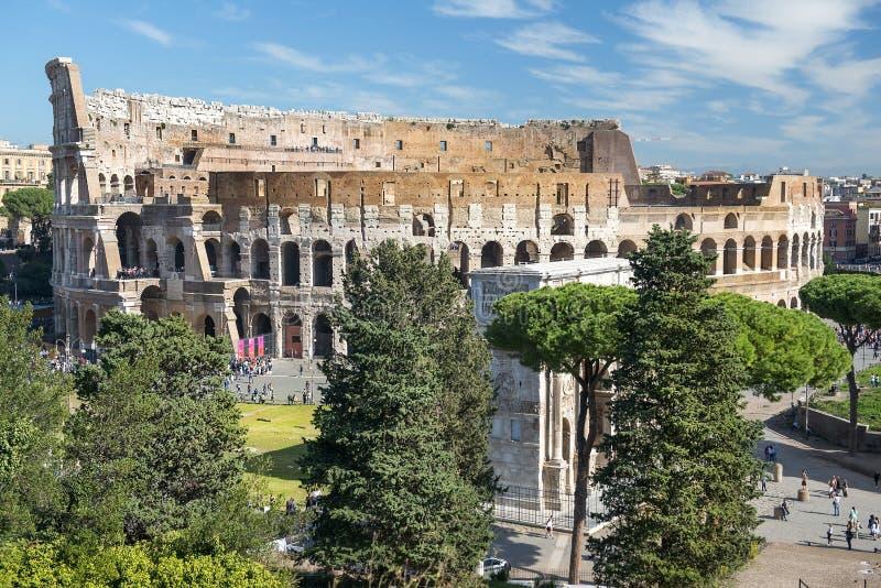 Colosseum ed arco di Costantina, Roma, Italia immagine stock libera da diritti