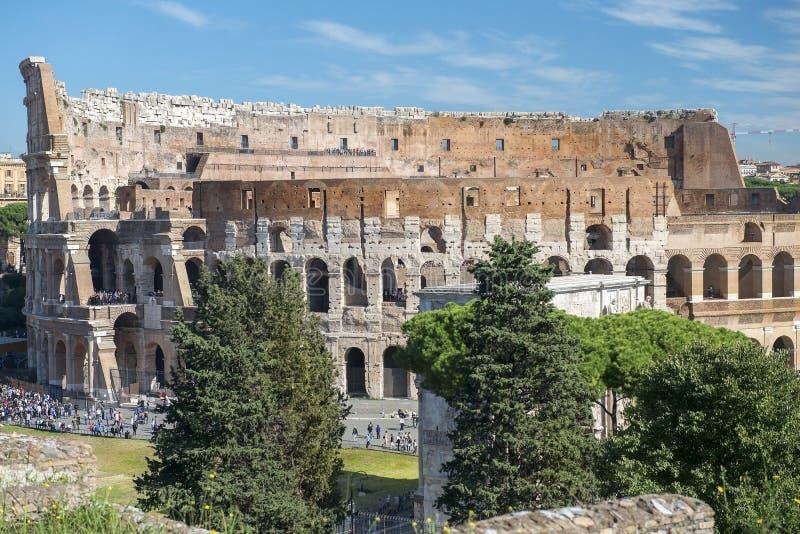 Colosseum ed arco di Costantina, Roma, Italia fotografia stock libera da diritti